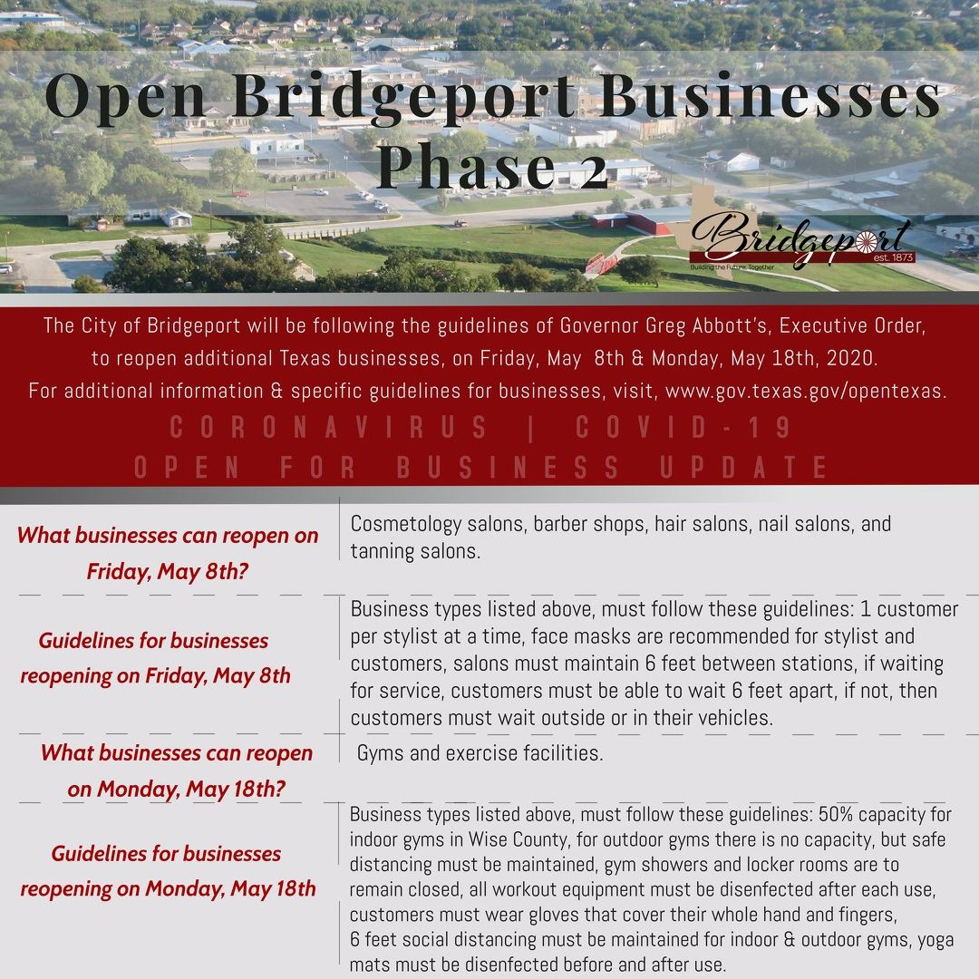 Open Texas and Bridgeport Phase 2