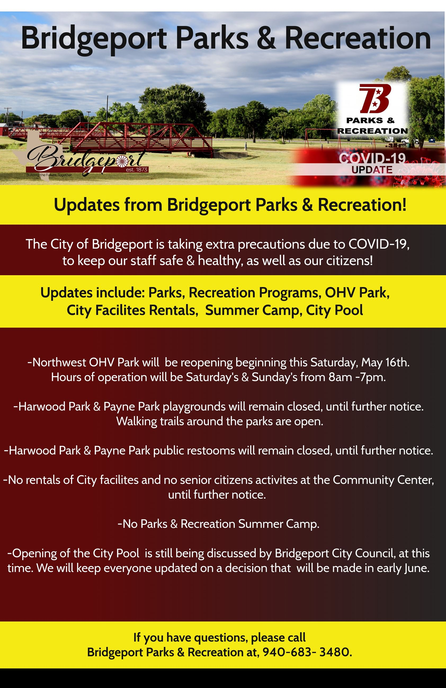 Parks and Recreation Updates Flier