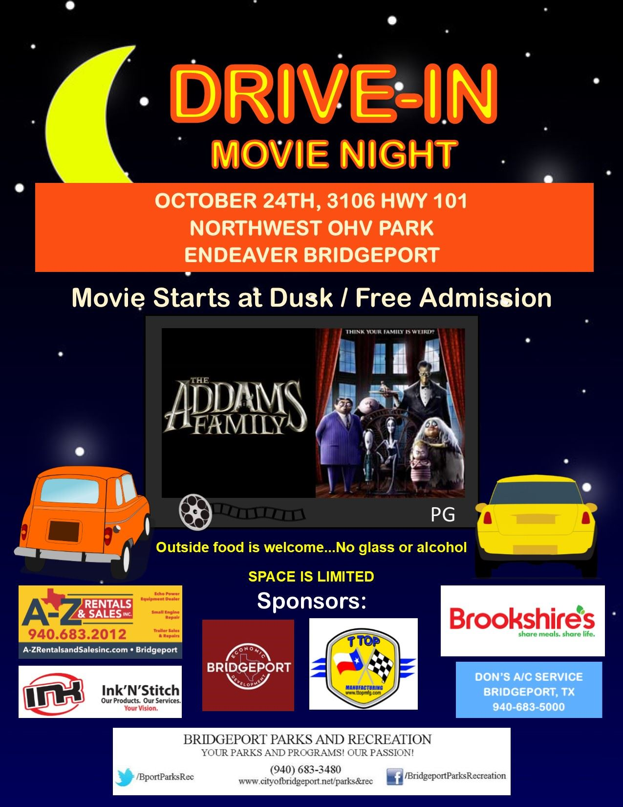 Drive-in Movie Flyer -10-2020